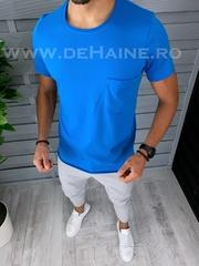 Tricou barbati albastru slim fit B1388 P12-1