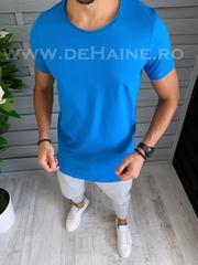 Tricou barbati albastru slim fit B1395 P4-3