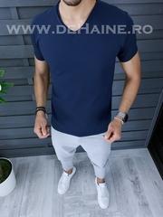 Tricou barbati bleumarin slim fit ZR A9949 N6-1