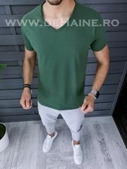 Tricou barbati verde slim fit ZR A9948 N6-1 / S4
