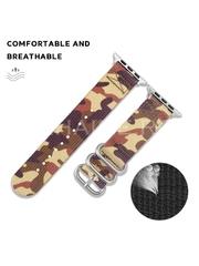 Curea material textil Musen pentru Apple Watch 42/44 mm Army A8624