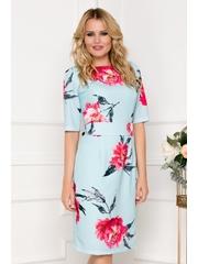 Rochie Luana bleu cu imprimeu floral