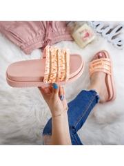 Papuci cu talpa groasa dama roz cu pietricele Miriavi -rl