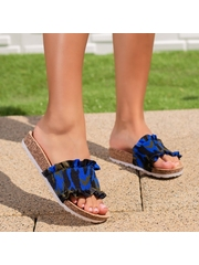 Papuci dama albastru deschis Randela