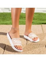 Papuci dama albi Dricia