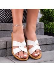 Papuci dama albi Tyrenia
