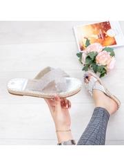 Papuci dama argintii Andoria -rl
