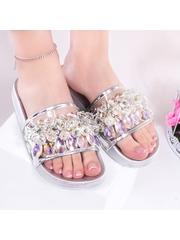 Papuci dama argintii Discasa
