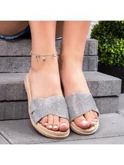 Papuci dama argintii Klimas
