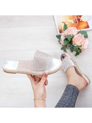 Papuci dama argintii Martia -rl