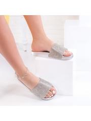 Papuci dama argintii Rozita