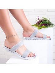 Papuci dama argintii Strinia