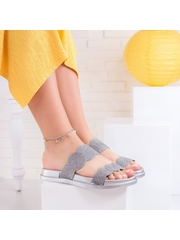 Papuci dama argintii Turnisa