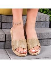 Papuci dama aurii Klimas