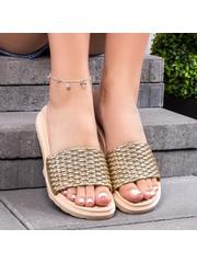Papuci dama aurii Suplicia