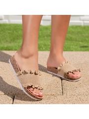 Papuci dama bej Randela