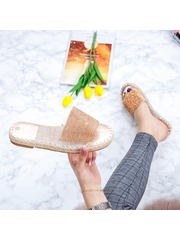 Papuci dama champagne Martia -rl
