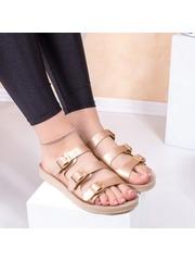 Papuci dama cu catarame aurii Bislia
