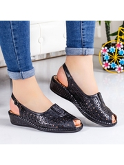 Sandale Adalie negre comode -rl