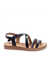 Sandale Adilene negre cu talpa joasa -rl