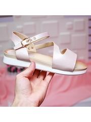 Sandale Andrema roz cu talpa joasa-rl