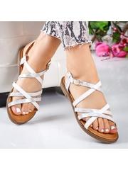 Sandale Anolia albe cu talpa joasa -rl-M