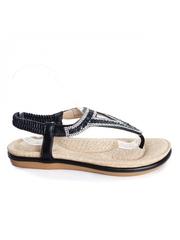 Sandale Aranza negre cu talpa joasa