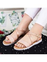 Sandale Carami roz cu talpa joasa-rl
