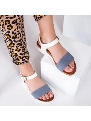 Sandale Corony albastre cu alb