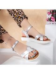 Sandale cu platforma dama argintii Coramo