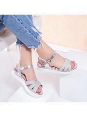 Sandale cu platforma dama argintii Mireile