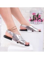 Sandale cu talpa groasa dama argintii Anosima