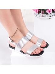 Sandale cu talpa groasa dama argintii Perema