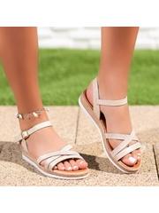 Sandale cu talpa groasa dama bej Cirema