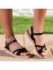Sandale cu talpa groasa dama negre Cirema