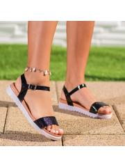 Sandale cu talpa groasa dama negre Distesa