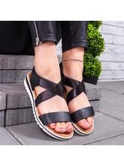 Sandale cu talpa groasa dama negre Loremia
