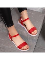 Sandale cu talpa groasa dama rosii Distesa