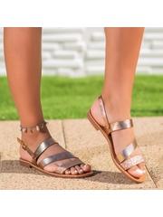Sandale cu talpa joasa aurii Eximba