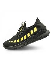 Pantofi barbatesti sport negri cu galben Adeso