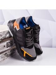 Pantofi barbati sport negri cu portoclaiu Stanely