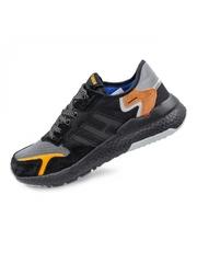 Pantofi sport barbatesti negri cu portocaliu Stanely