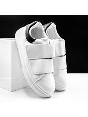 Pantofi sport barbati albi cu negru Mixavi