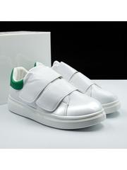 Pantofi sport barbati albi cu verde Mixavi