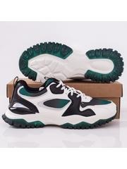 Pantofi sport barbati albi cu verde Ramio