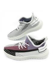 Pantofi sport barbati albi cu visiniu Onlino