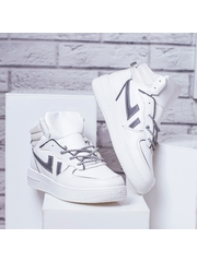 Pantofi sport barbati albi Tesio