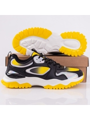 Pantofi sport barbati galben cu negru Ramio
