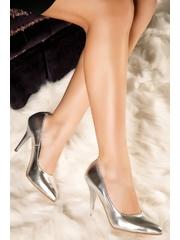 Pantofi stiletto gri Diana din piele naturala