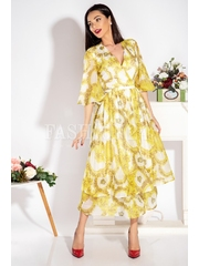 Rochie Ailyn in nuante de galben
